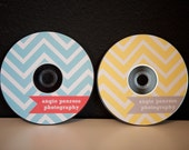 simple chevron cd label with coordinating flags photoshop template