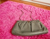 Vintage Leather Gray Clutch Purse