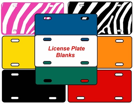 Items Similar To 6 Quot X12 Quot Blank License Plates Make Your