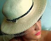 Womans Vintage Felt Durby / Ladies Brimmed Fashion Hat  / Designer M Sieu Leon