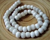 Strand of White Stone Beads 1970