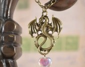 Heart's Treasure Dragon Necklace