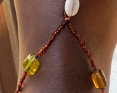 Amber Beaded Barefoot Sandals Jewelry Shoes Beach Wedding