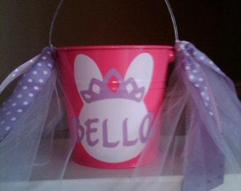 Personalized Princess Bucket / Pail