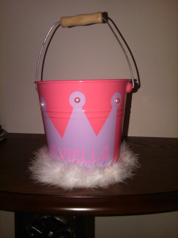Personalized Princess Bucket / Pail