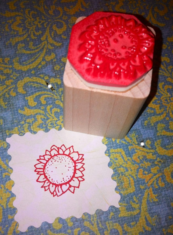SUNFLOWER Mounted Rubber Stamp