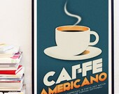 Caffe Americano Poster Art Print