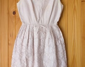 Vintage 50s/60s dress / lace sleeveless AS IS / 25in waist