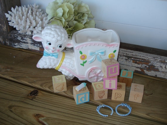 Reserved Lisa....Mary Had A Little Lamb Planter Baby Gift