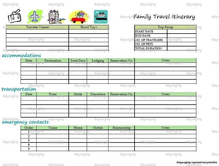 travel itinerary maker