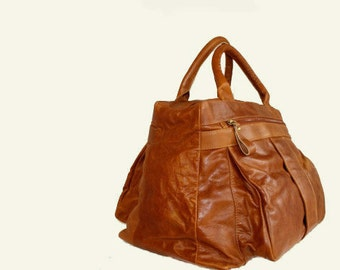 Large Satchels in Tobacco, Natural Sand or Rust Colored / ready to ship, travel bag