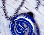 ROYAL color wax seal pendant. Your choice of letter A-Z