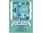 Birthday Invitation with Math Equations Equaling to Age