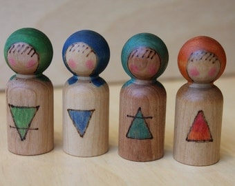 Element Children - Natural Wooden Toy - Set of Four