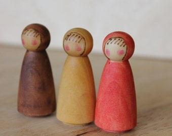 Nature's Root Children - Natural Wooden Toy - Set of 3
