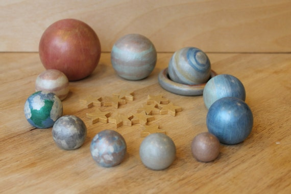 Custom Listing for Laura-Nature's Super Solar System Set - Natural Wooden Toy