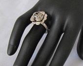 Revamped Vintage Silver Flower Ring