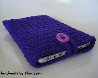 Kindle Fire Cover Case - Nook Tablet Cover Case - Handmade Crochet in Purple