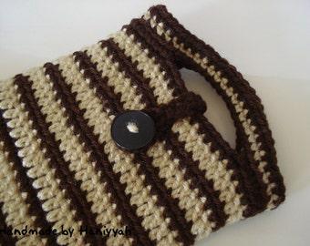 Nook Color Tablet or Kindle Fire Tablet Cover Sleeve Bag Jacket Handmade Crochet