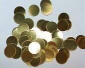 """Gold dot confetti, 1.5"""" diameter, 1 oz."""