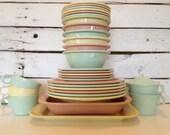 Vintage 31 piece Pastel Melmac set