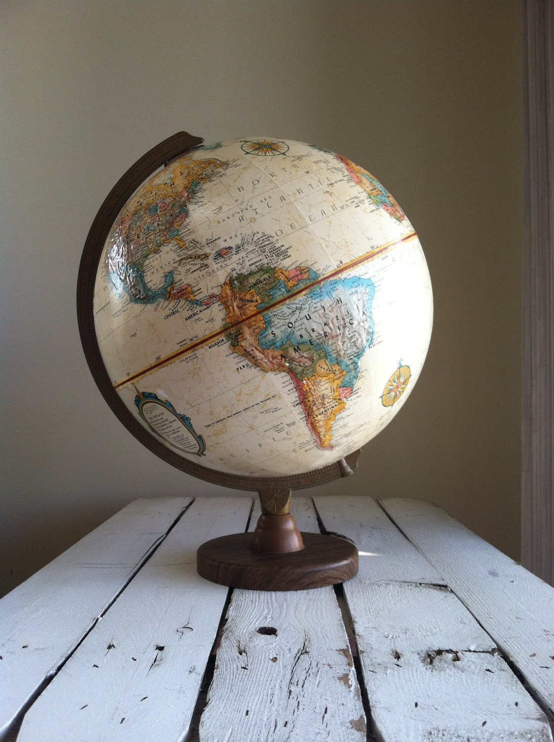 Reserved Vintage World Globe Replogle World Globe Made In