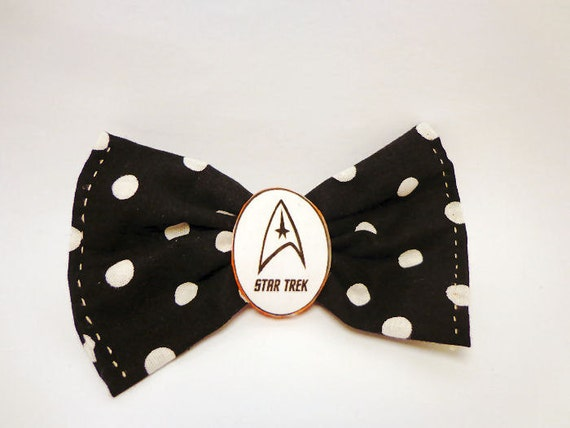 Star Trek polka dot hair bow