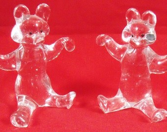 Vintage Collectable Crystal Bears ( set 2)
