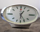 Mid Century Modern Five Rams Chinese Alarm Clock