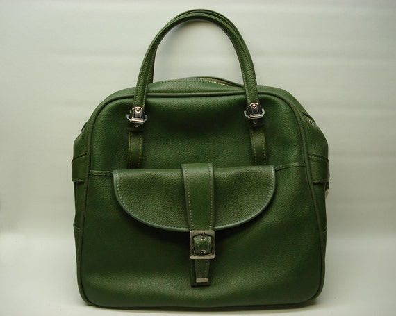 Avocado green overnight bag