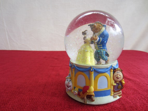 "Walt Disney Beauty and The Beast Musical Snow Globe Song ""Beauty and the Beast"""