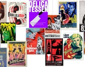 Foreign Movie Posters for 1:6 Scale Dollhouses