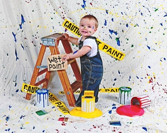 Spilled Paint Set Photography Photo by RockinRphotoprops on Etsy