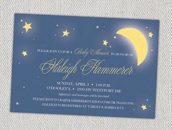 Stars & Moon Baby Shower Invitation