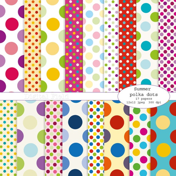 Polka Dot Digital Scrapbook Paper