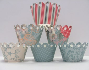 Cupcake wrappers,Set of 12