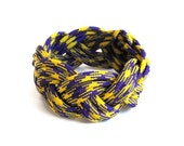 Yellow and Purple Rope Bracelet (Triple Braided)