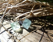 Natural Rainbow Fluorite Set of Lavender, Mint, and Clear Posts