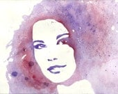 Handpainted Custom Watercolor Portrait