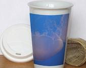 Salt Water and Lace 12oz Porcelain Travel Tumbler