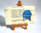 Star Globe on LIbrary Card - as seen here or custom order with your zodiac constellation