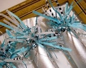 Reserve fo Gregory - Silver & Turquoise New Year's Eve Party Cracker