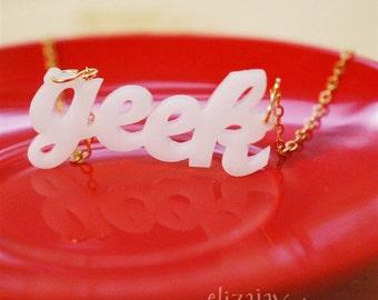geek acrylic necklace
