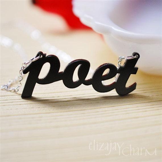 poet acrylic necklace
