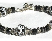 Lampwork Bracelet Handmade MIDNIGHT MAGIC One of a Kind