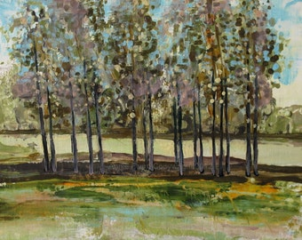 "Archival Print of Original Oil Painting ""Cluster of Trees"""