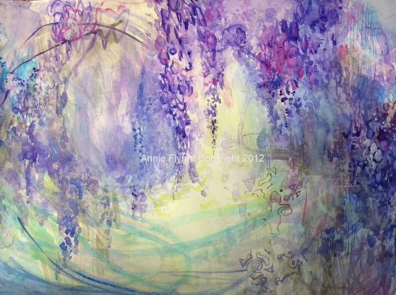 Wisteria Watercolor In Lavender