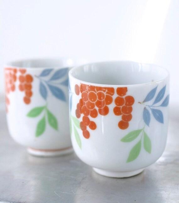 Vintage Japanese Teacups Occupied Japan Set of Two