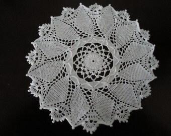 Handmade 11 inch Crochet Pinwheel Doily