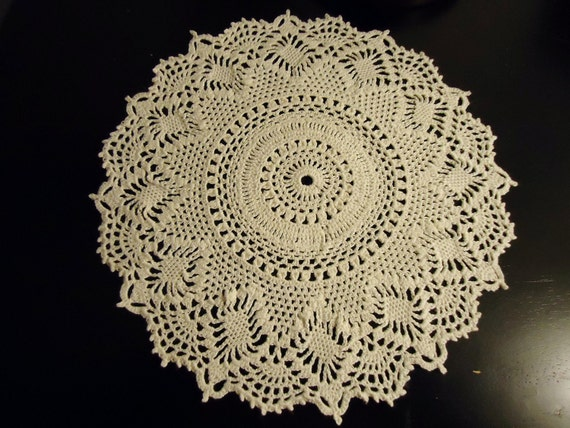 Pineapple Doily in Cream Measuring 9.5 Inches
